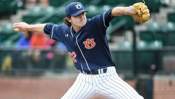 Casey Mize Auburn baseball vs George Washington on
