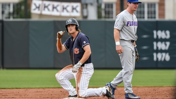 Luke Jarvis had three hits and an RBI in the 2-1 victory