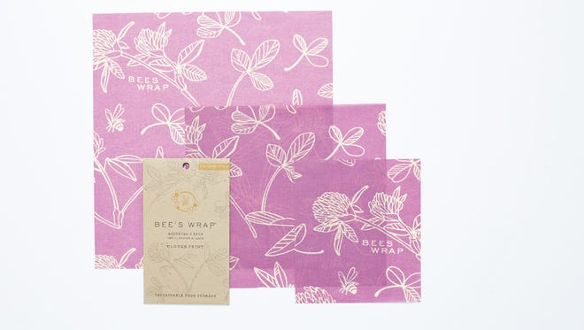 Bee's Wrap clover pattern.