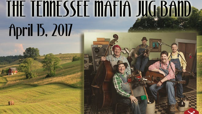 The Tennessee Mafia Jug Band is set to take the stage at 7:30 p.m. Saturday at The Arts Center of Cannon County, 1424 John Bragg Highway in Woodbury. Tickets are $15 each and can be purchased online at artscenterofcc.com or by calling 615-563-2787.