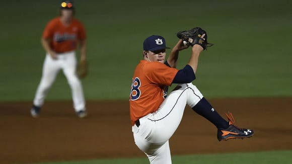 Auburn pitcher Elliott Anderson has quickly become the second left-handed arm in the Tigers bullpen.