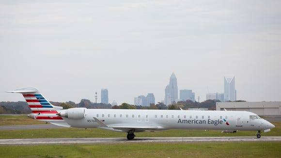 This file photo shows an American Eagle Bombardier