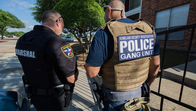 Numerous local, state and federal agencies took part in national gang sweep led by Homeland Security Investigations.