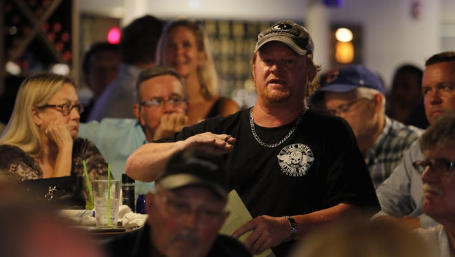 A resident speaks during an affordable housing town hall, hosted by The News-Press, in Cape Coral earlier this year.