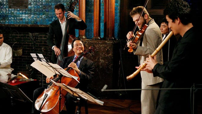 The famed cellist Yo-Yo Ma joins the band when The Silk Road Ensemble visits Opening Nights Performing Arts festival.
