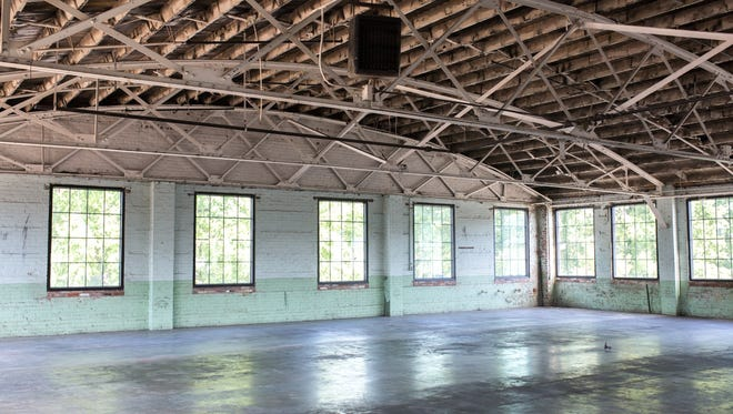 A view of the space Tuck-Hinton Architects will occupy at 510 Houston St. at May Hosiery Co-Op.