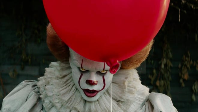 """Pennywise the clown (Bill Skarsgaard) is no laughing matter in the new version of Stephen King's """"It."""""""
