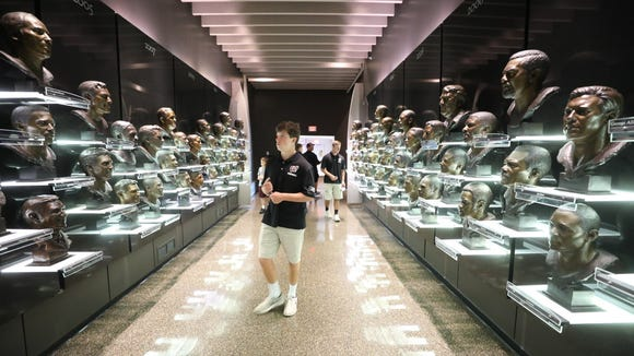 Wayne Hills football players visited the Pro Football Hall of Fame ahead of a game against McKinley-Canton in 2017.