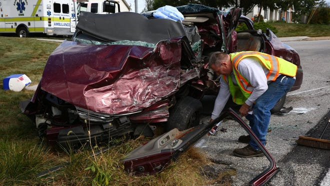 A two-vehicle crash with entrapment happened Saturday, Sept. 30, at Kevin Drive and Oxford Road in Oxford Township.
