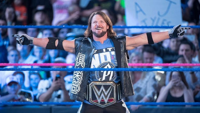 WWE star A.J. Styles is the current WWE champion.