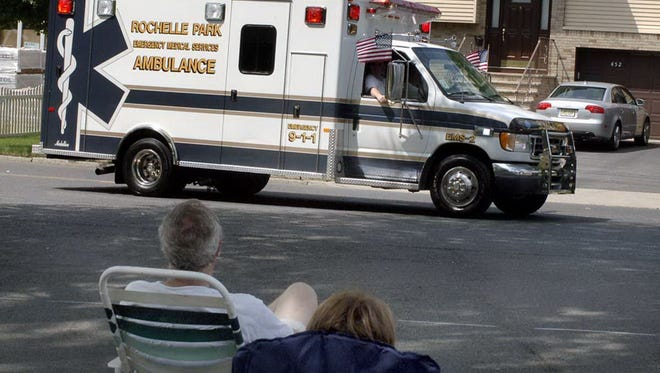 The Rochelle Park Ambulance Corps. at the Saddle Brook Memorial Day Parade on May 28, 2006.