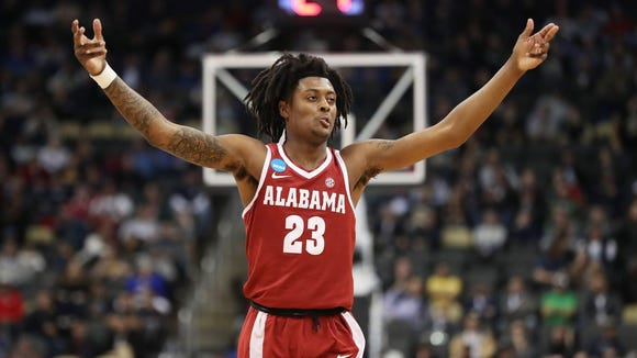 Alabama freshman John Petty connected on 6-of-8 threes in Thursday's 86-83 win over Virginia Tech in the NCAA Tournament.