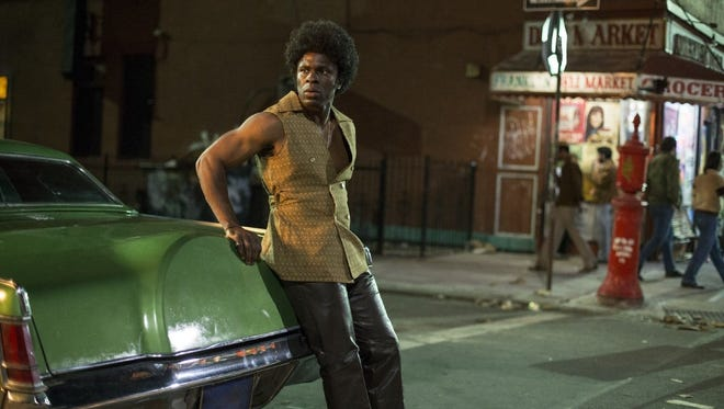 """Gbenga Akinnagbe plays one of the stylish pimps who runs the mean streets of Times Square during the early '70s in HBO's """"The Deuce."""""""