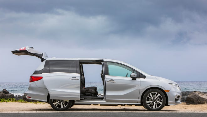 Honda Odyssey offers cabin seating flexibility with its new Magic Slide™ second-row seat, which is easily reconfigurable for passenger comfort, people- and cargo-hauling flexibility, and easy access to third-row seating.