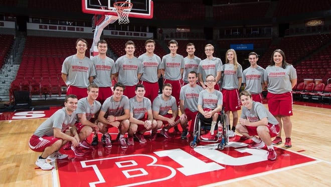Jasen Baranowski and Brett Frieder are two of 18 student managers for the University of Wisconsin men's basketball team.
