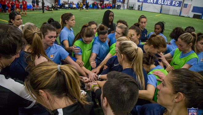 Sky Blue FC players.