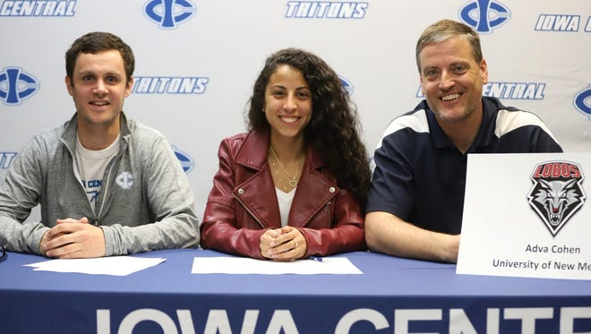 Adva Cohen signs with the University of New Mexico on April 11.