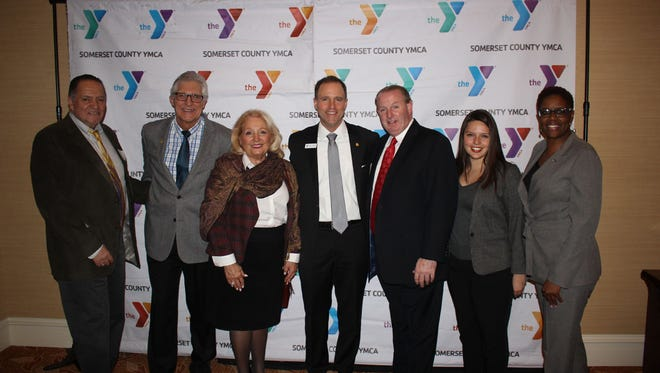 In attendance to support the Y's cause were Bill Grippo, principal of MacAfee Road School in Somerset; Mayor Vic Sordillo and Councilwoman Carolann Garafola of Warren; David M. Carcieri, Somerset County YMCA president and CEO; Mayor Kevin Sooy of Bernardsville; Sara Sooy, member Somerset Hills School District Board of Education; and Deputy Mayor Shanel Robinson of Franklin.