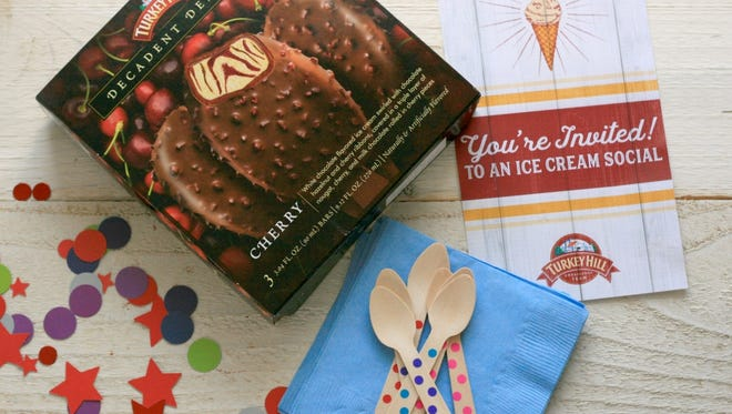 Turkey Hill Dairy celebrates new products with 500 ice cream socials. Party kits and free ice cream to be shipped to 500 fans
