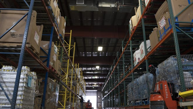 The warehouse at the new Food Bank for Larimer County headquarters.