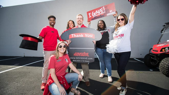 Members of the APSU community thank donors who supported this year's #GovsGive campaign.