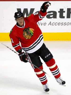 Blackhawks right wing Marian Hossa and Chicago welcome the Devils to the United Center on Thursday night.