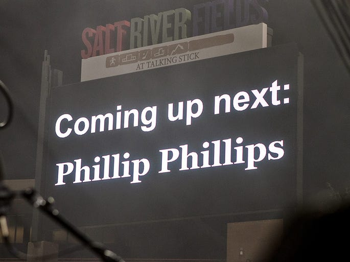 Phillip Phillips performs at Salt River Fields on Thursday, July 3, 2014 in Scottsdale.