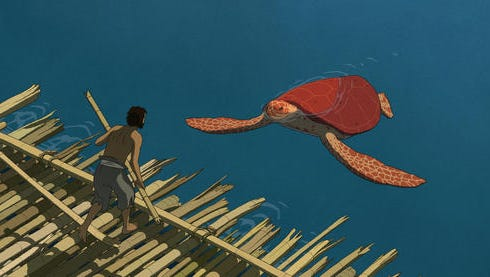 "This image released by Sony Pictures Classics shows a scene from the animated film, ""The Red Turtle."""