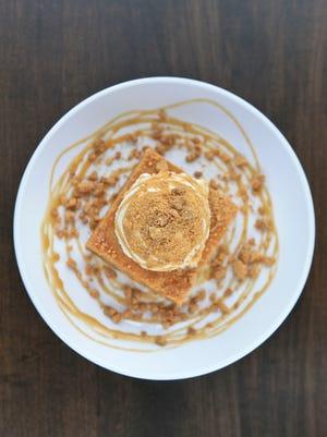 Butterscotch blondies dessert from Gander: An American Grill's chef Nick Platt.