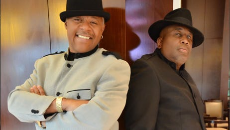 Larry Dodson, left, is retiring from Memphis funk-soul legends the Bar-Kays at the end of 2017, after 47 years. Group founder James Alexander says the band will continue on with a new lead singer.