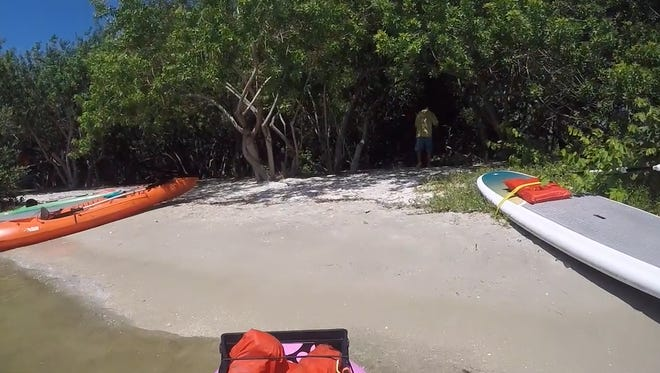 Paddle to Grant Spoil Island BC-45 by kayak, SUP or canoe and explore.