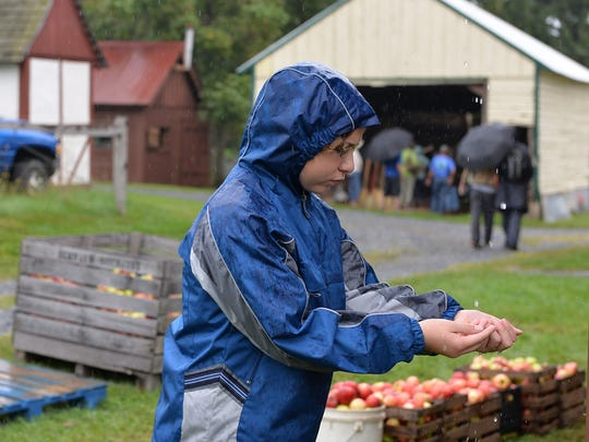 A scene from a previous Harvest Fair at historic Alexander Schaeffer Farm in Schaefferstown.