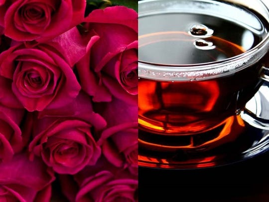 Fresh rose + black tea on the shelves at Craft (s) Gallery and Mercantile.