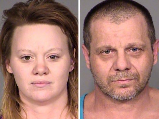 Jail booking photos of Lindsey Jones, 27, and Mark Jones, 47.