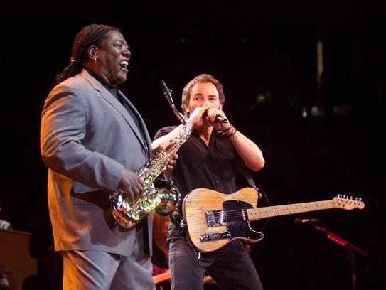 1999: Bruce Springsteen and Clarence Clemons at Continental