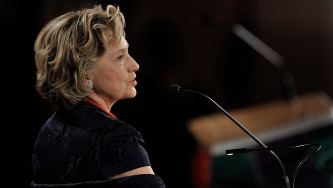 Hillary Rodham Clinton speaks after receiving  the Order of Lincoln Award at the Field Museum in Chicago on May 3, 2014.