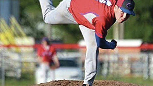 Jace Kaminska displays his winning style on the mound while hurling a year ago for the Caney Valley (Kan.) High School baseball team. Kaminska --a 2020 graduate -- has signed a letter of intent to pitch for Wichita State.