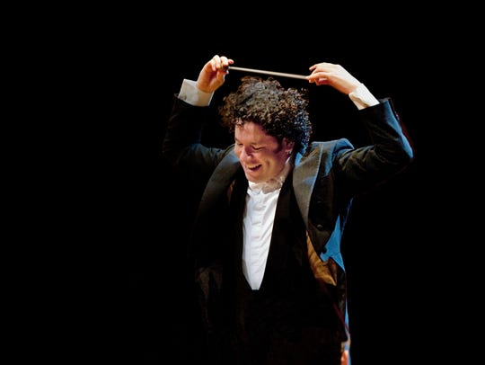 Gustavo Dudamel, who conducts the Vienna Philharmonic