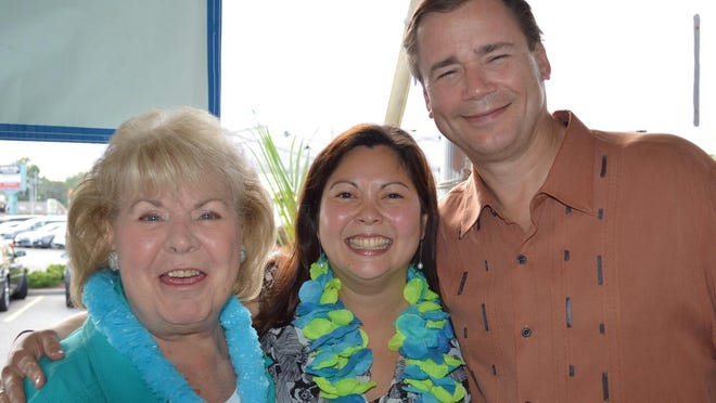 Mary Armor (Downtown), Paula Boggs Muething (Downtown) and Paul Brunner (Walnut Hills) at the Big Bang in Paradise event.