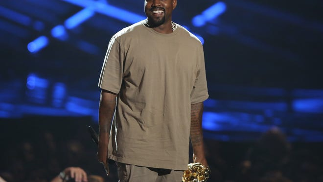 Kanye West accepts the video vanguard award at the 2015 MTV Video Music Awards. (Photo by Matt Sayles/Invision/AP)