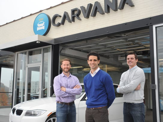 Carvana's founders, from left: Ryan Keeton, Ernie Garcia