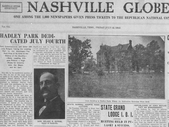 An article on the front page of the Nashville Globe