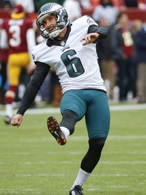 Caleb Sturgis missed a field goal and an extra point in the Eagles' 23-20 loss to Washington.