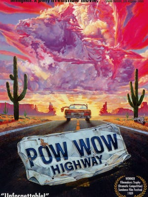 """Pow Wow Highway"" (1989), starring A Martinez, Gary Farmer, Wes Studi and Graham Greene with music by Robbie Robertson. Filming locations in New Mexico include Santa Fe."