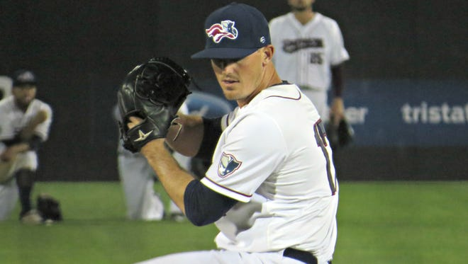 Somerset Patriots reliever Ryan Reid has not allowed an earned run in his first four appearances with the team.