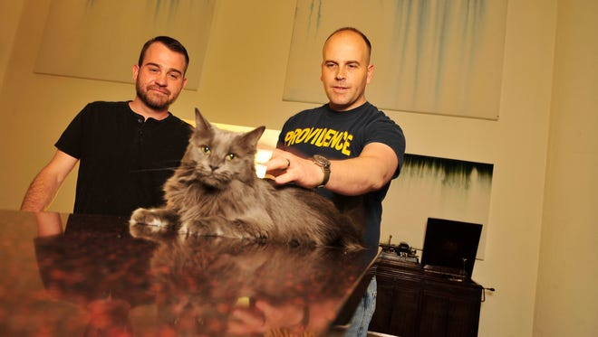 Thomas Kostura and Ijpe DeKoe and their cat Thather live in Memphis. The couple met when they were both teenagers working at a Boy Scout camp. They got married in New York days after same-sex marriage was legalized there.