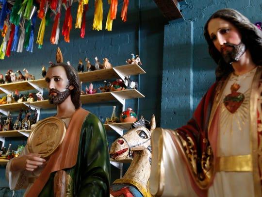 Mexican handicrafts are displayed at La Providencia