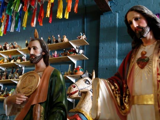 Mexican handicrafts are displayed at La Providencia in Passaic, N.J., a city 12 miles from Manhattan, that has become a second Puebla for many Mexicans who moved here from the state of Puebla in search of a better life.