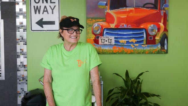 Yfat Yossifor / Standard-Times Janet Lay, co-owner of TJ's Frozen Yogurt, opened a second location at 1313 N. Bryant Blvd.