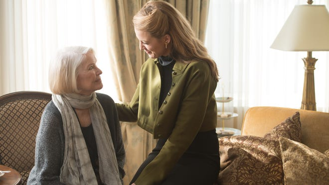 """Ellen Burstyn and Blake Lively star as daughter and mother in """"The Age of Adaline."""""""